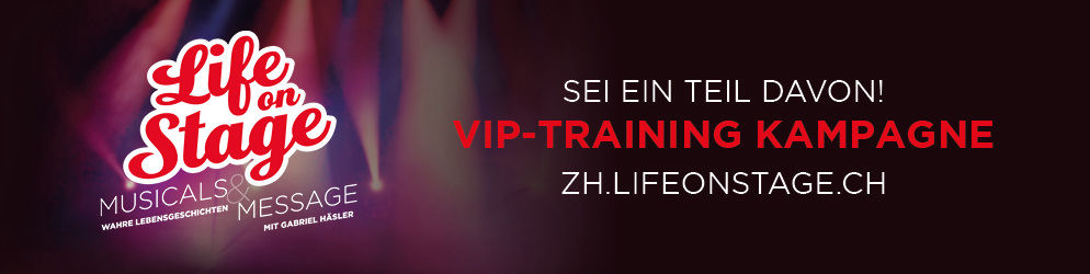 life on stage banner vip training